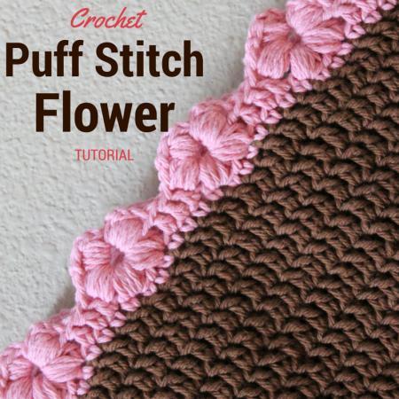 Crochet Puff Stitch Flower edging