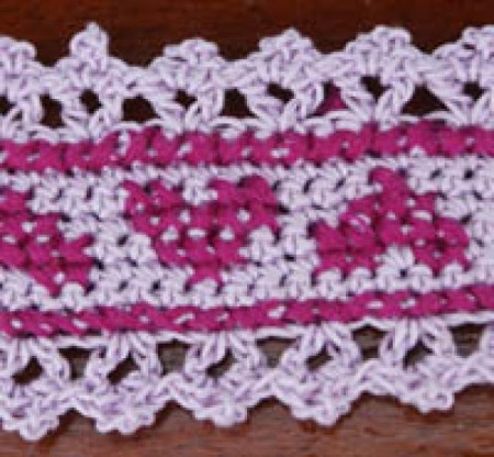 Lacy Crochet Trim with Hearts