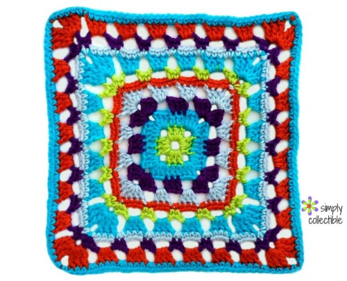 Penelope's Skipping Stones 12 inch Square by SimplyCollectibleCrochet.com - free crochet pattern