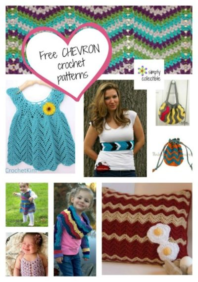 15 Amazing Free Chevron Crochet Patterns (Something for everyone) on SimplyCollectibleCrochet.com