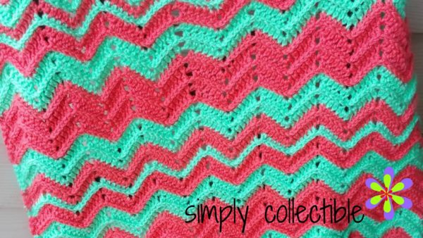Chevron Flare Blanket free crochet pattern - sizes Baby to King by SimplyCollectibleCrochet.com