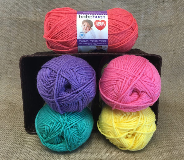 Winners will receive 5 balls of Baby Hugs Medium ($25 value) in assorted colors. Colors may be different than shown. Entries are limited to North America (US, Canada, and Mexico). Good Luck to all!
