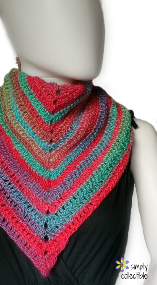 Simplicity Triangle Scarf free crochet pattern by SimplyCollectibleCrochet.com 2