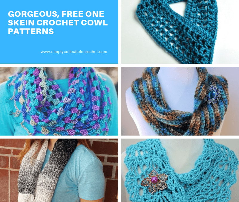 Gorgeous, Free One Skein crochet Cowl Patterns