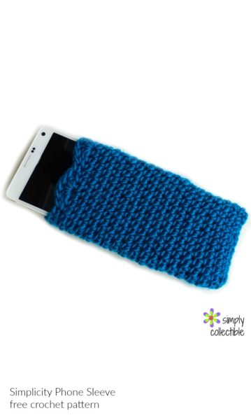 Simplicity Phone Sleeve - free crochet pattern by SimplyCollectibleCrochet.com