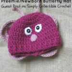 Preemie/Newborn Butterfly Hat crochet pattern