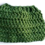 Super Bulky Oversized Messy Bun Hat crochet pattern by Celina Lane, CraftCoaltion.com