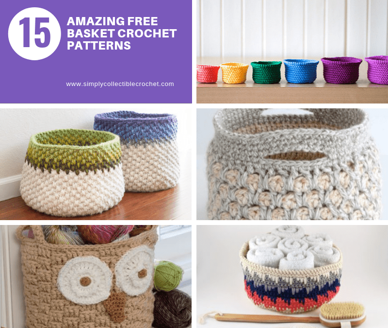 15 Amazing Free Basket crochet patterns