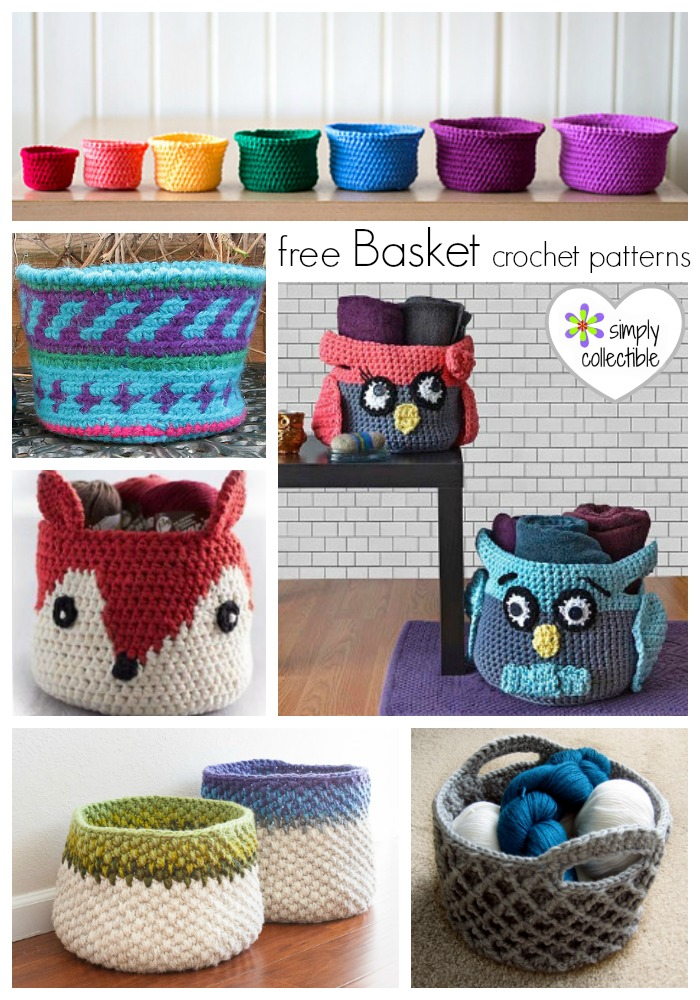 15 Amazing Free Basket crochet patterns on SimplyCollectibleCrochet.com