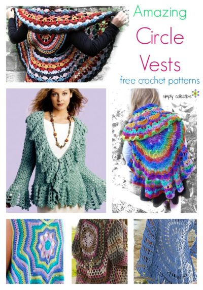 13 Amazing Free Circle Vest crochet patterns!