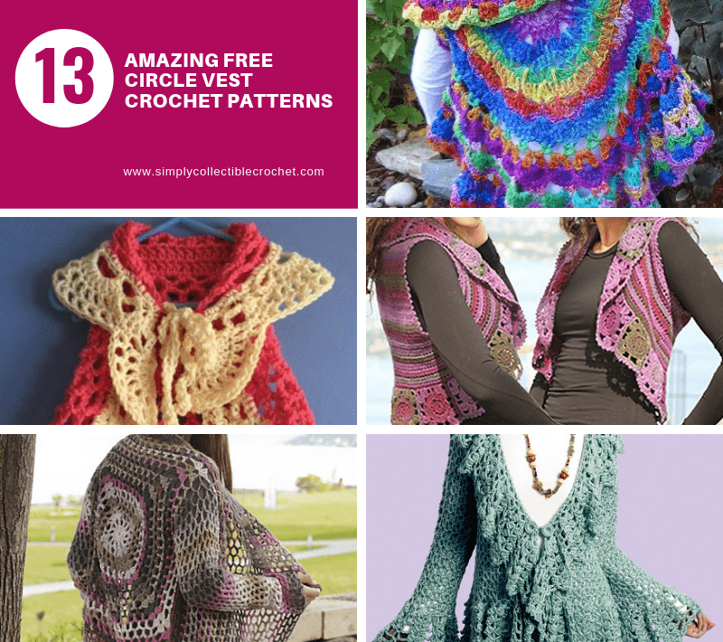 Amazing Free Circle Vest crochet patterns!