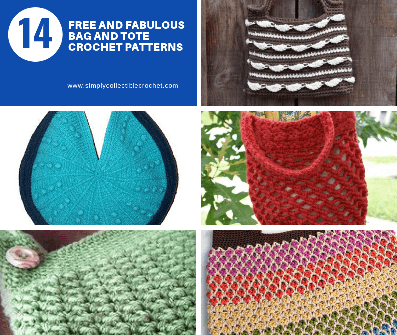 14 Free and Fabulous Bag and Tote crochet patterns
