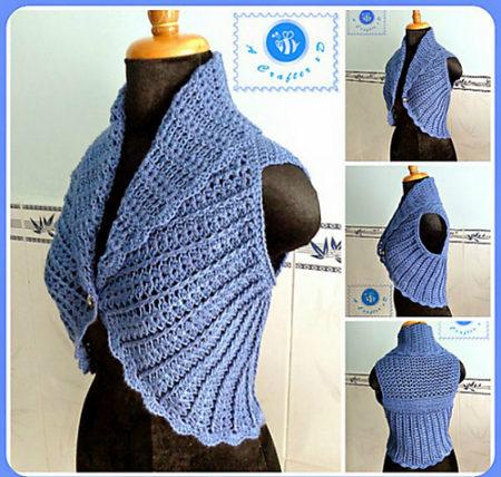 12 Amazing Free Circle Vest crochet patterns!