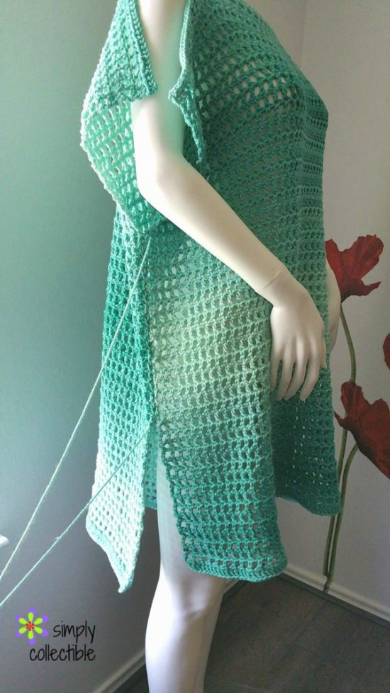 Crochet Tunic Pattern, Coraline's Endless Summer Cover-up, SimplyCollectibleCrochet.com 13