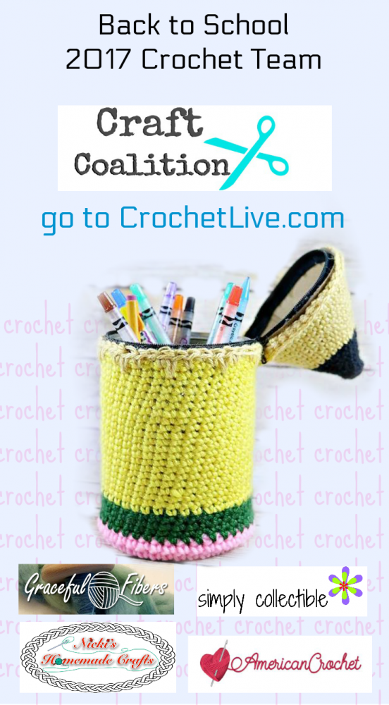 Back to School - CraftCoalition.com 2017 Crochet Team featured pin