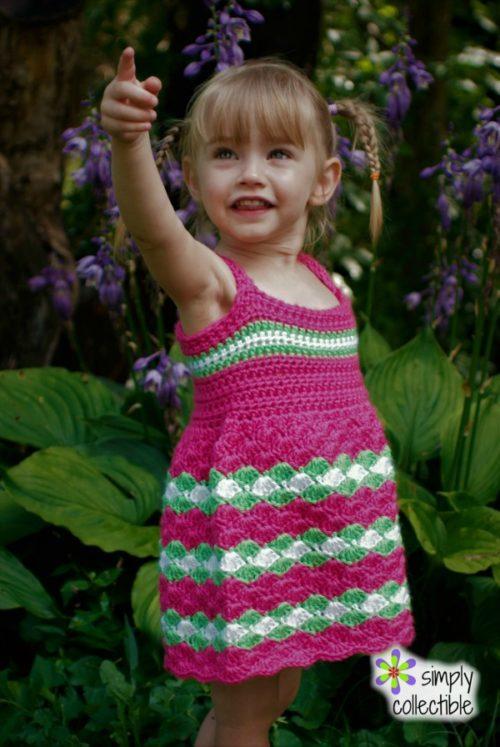 Crochet Baby Dress Pattern - Garden Party Dress, SimplyCollectibleCrochet.com