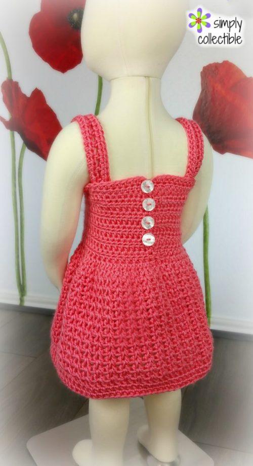 Reversible Crochet Dress Pattern - Pretty, Pretty Princess, SimplyCollectibleCrochet.com