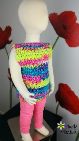 Crochet Girl Top Free Pattern – Sizes 6m to 14 – Girls Easy Peasy Top