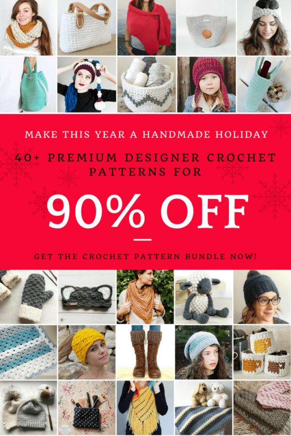 Get 40+ Crochet Patterns For 90% Off? The Crochet Pattern Super Bundle Is On Now. Pick Up Your Bundle Before The Price Increases. #crochet #yarn #grannysquare #amigurumi #crochetalong #crochetgirlgang #crafttherapy #cornertocorner #crochetersofinstagram #crochetgirlgang #crocheting #diy #crocheteveryday #crochetlove