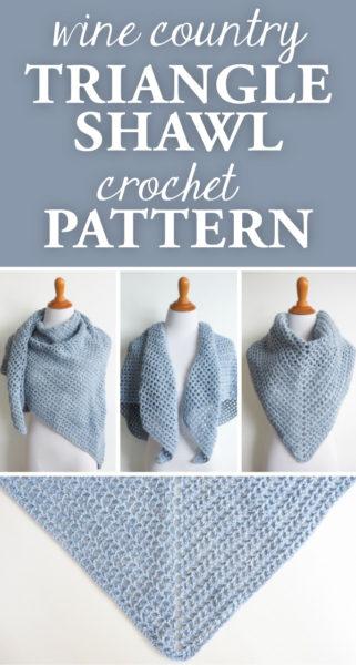 Wine Country Triangle Shawl Crochet Pattern
