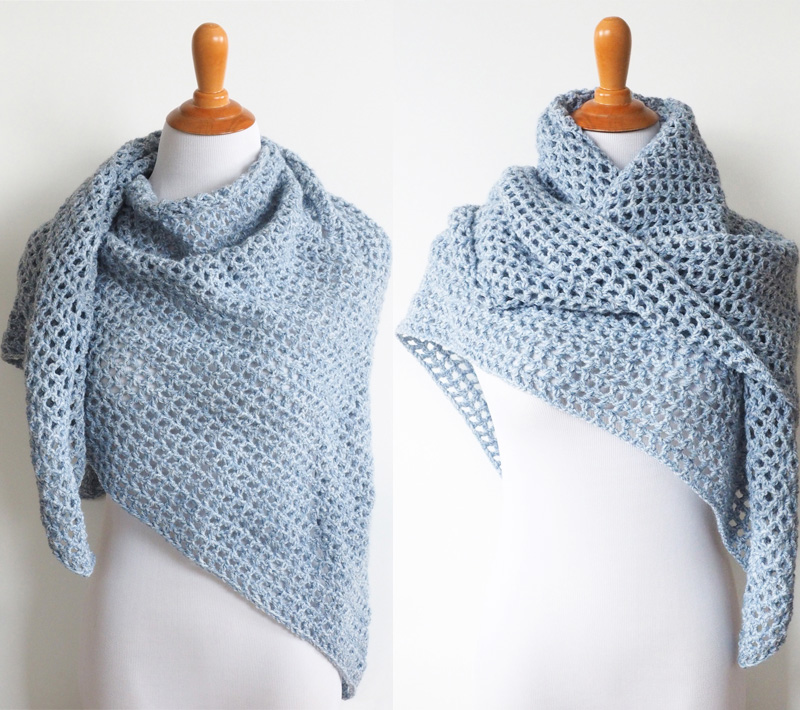 Wine Country Triangle Shawl #crochetpattern #crochetshawl #crochetlove #crochetaddict
