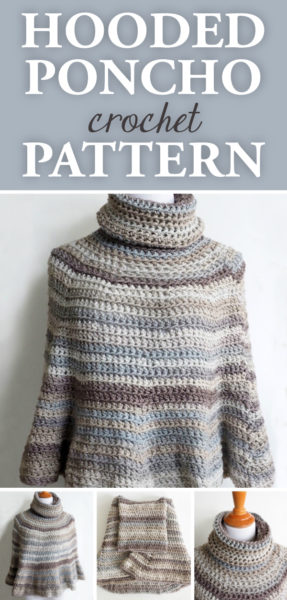 Hooded Crochet Poncho Pattern