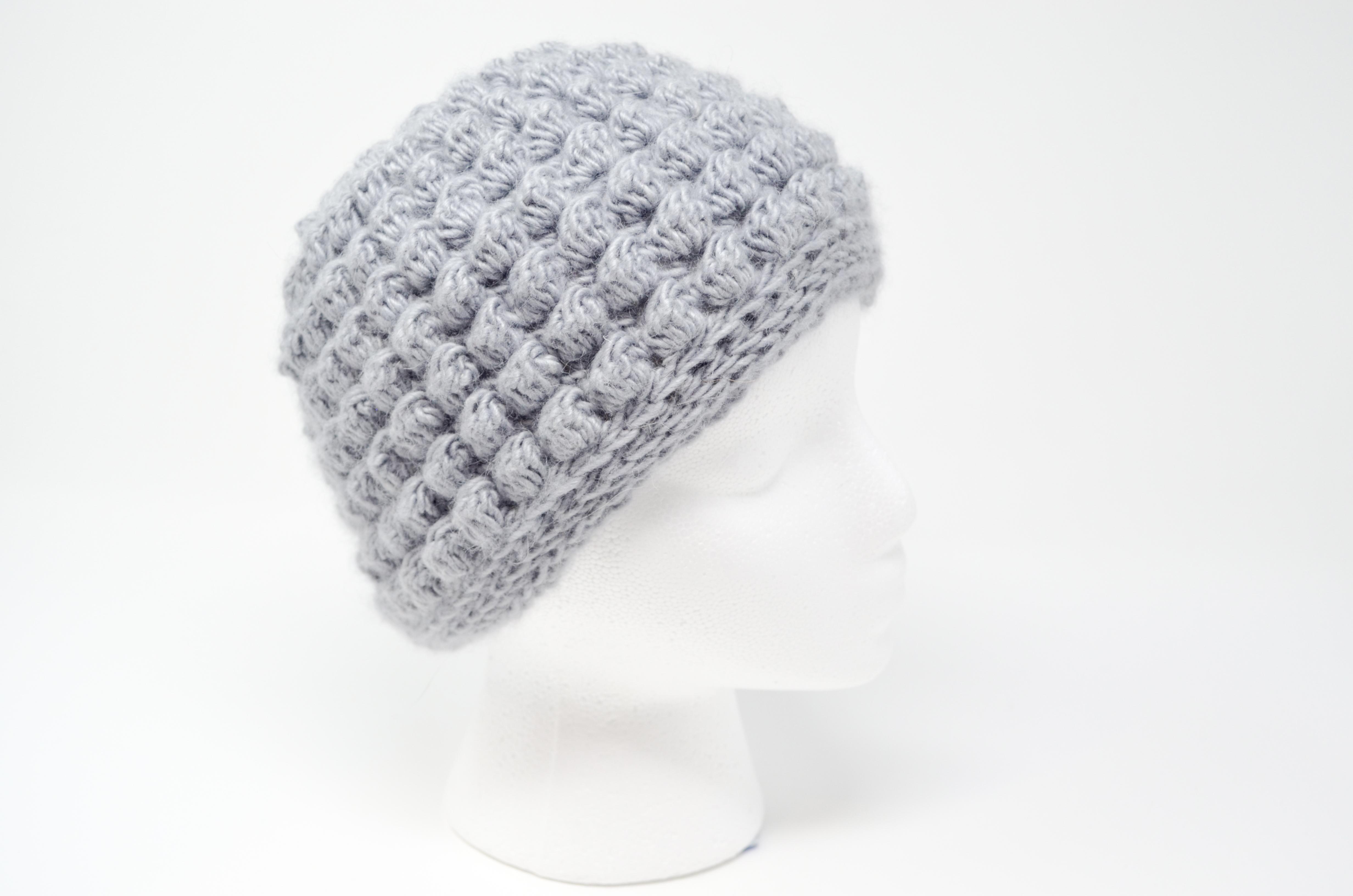 Bobble Messy Bun Hat Crochet Pattern