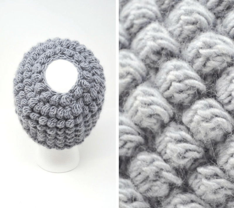 Bobble Messy Bun Hat Crochet Pattern