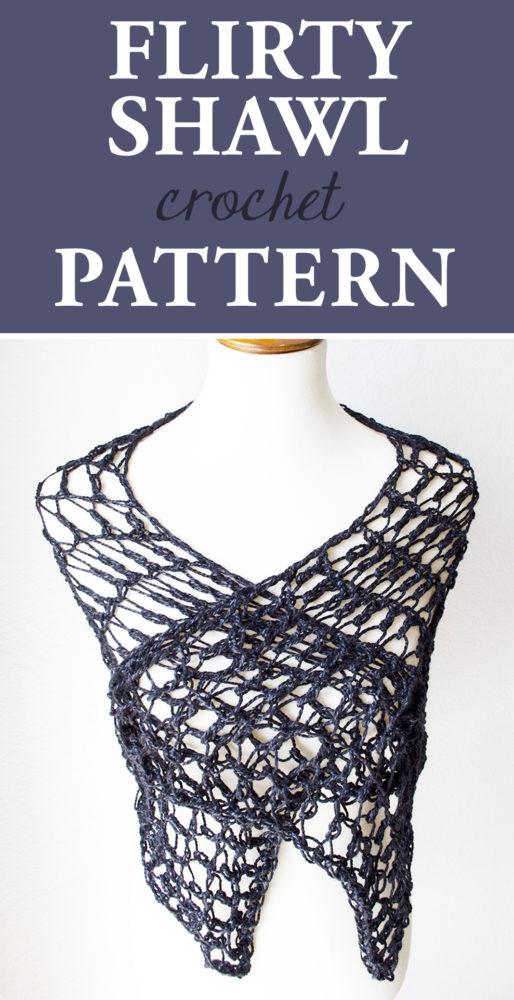 Flirty Shawl Crochet Pattern