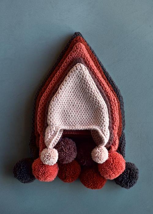 Pointy Pom Pom Hat Tunisian Crochet Pattern