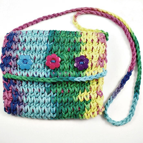 Rainbow Children's Purse Tunisian Crochet Pattern