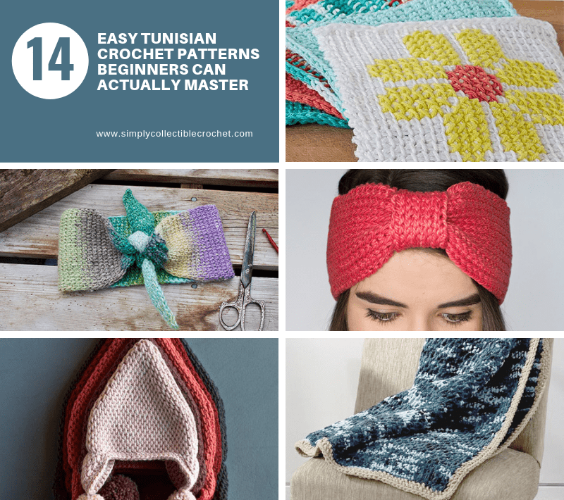 14 Easy Tunisian Crochet Patterns Beginners Can Actually Master ... 8ec70a7b31b