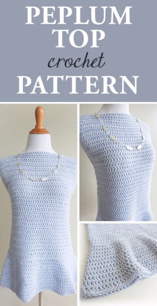 Peplum Top Crochet Pattern