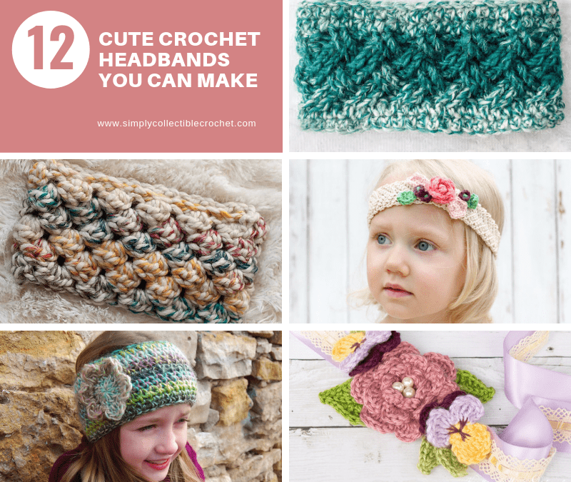 12 Cute Crochet Headbands You Can Make