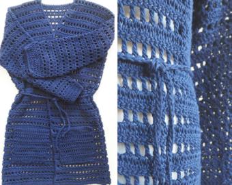 Belted Kimono Cardigan Crochet Pattern