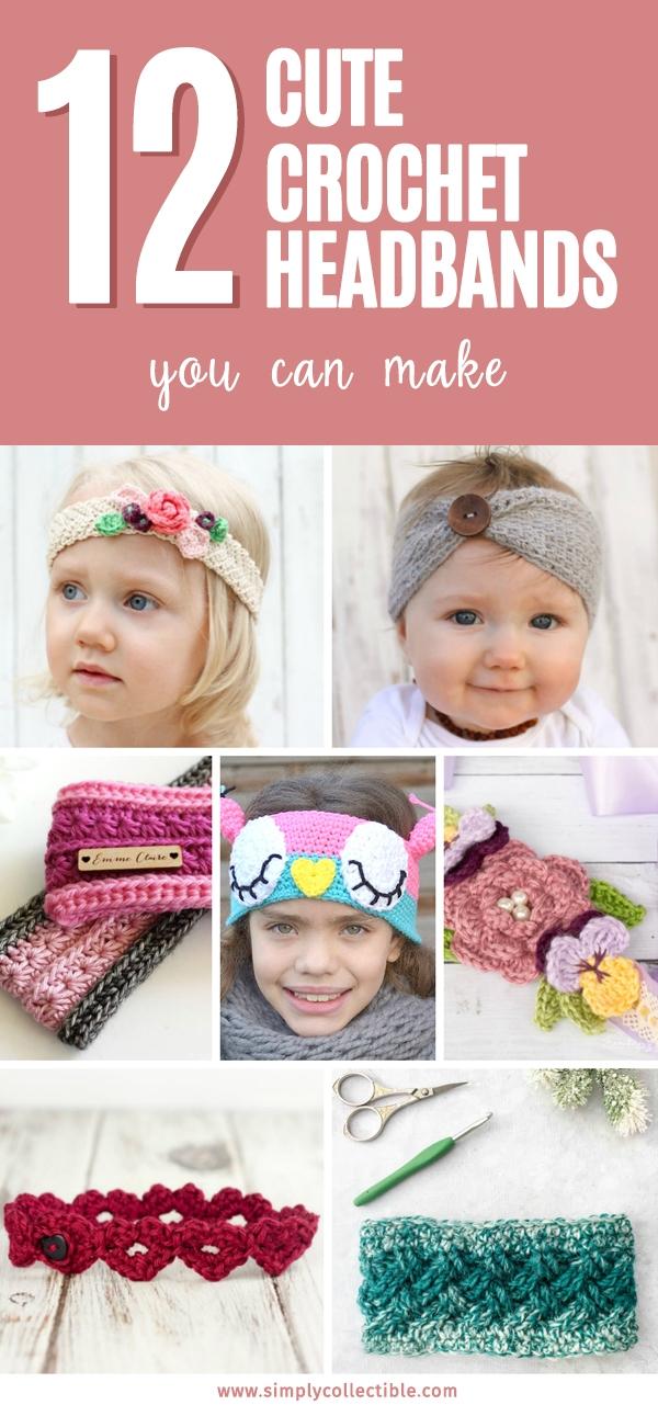 12 Cute Crochet Headbands You Can Make