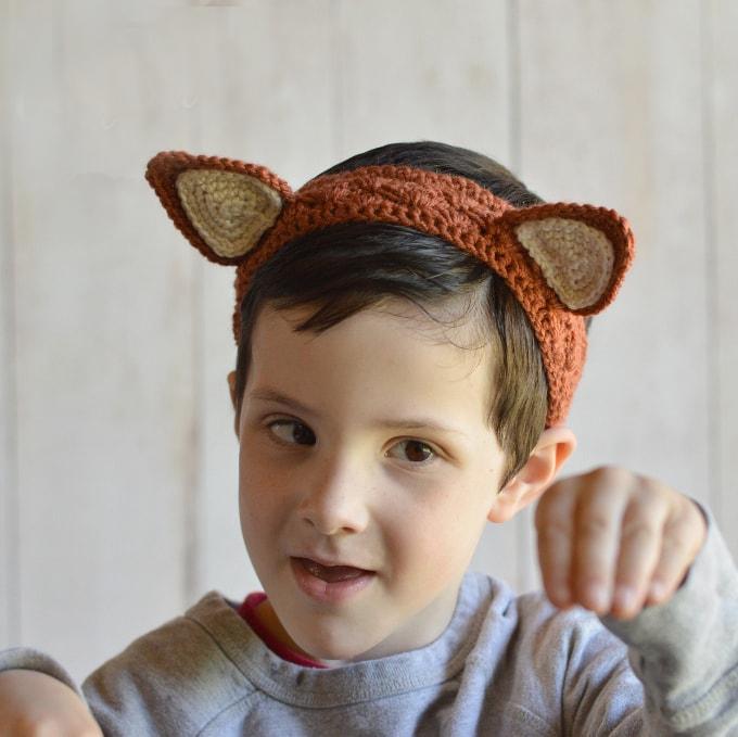 Woodland Animal Ears Crochet Headband