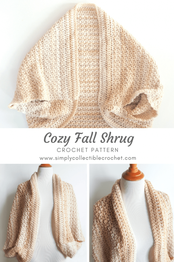 One of the patterns that stands out the most this season is this beautiful cozy fall shrug. #crochetshrug #crochetsweater #crochetpattern #crochetlove #crochetaddict