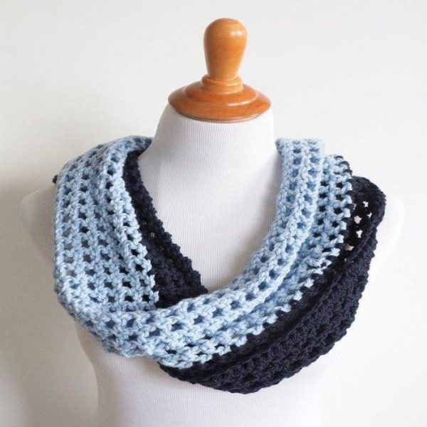 Two Toned Infinity Cowl
