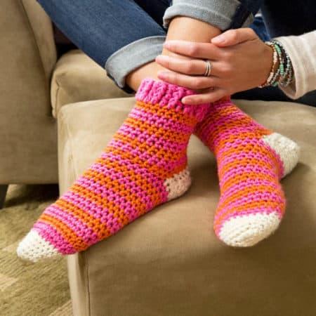 Cozy at Home Crochet Socks