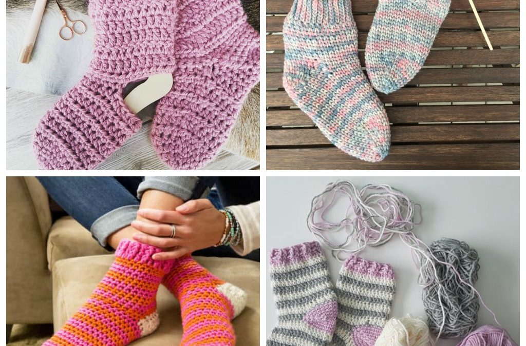 12 Favorite Cozy Crochet Sock Patterns
