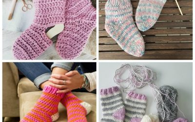 Our 12 Favorite Cozy Crochet Sock Patterns
