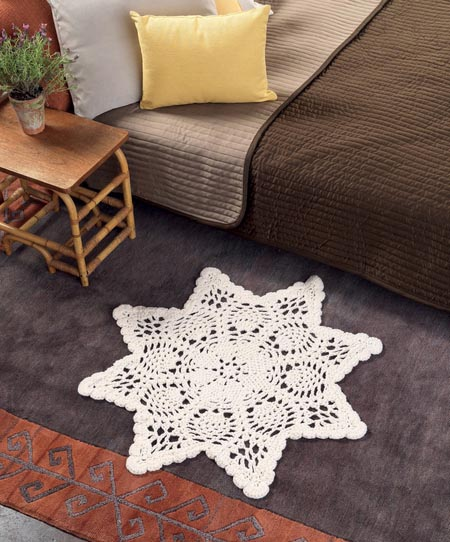 Chunky Doily Rug - Crochet doily patterns are unique and a great investment of time. They take skill and attention to detail and are perfect for relaxing. #crochetpatterns #crochetdoilypatterns #freecrochetpatterns #crochetaddict