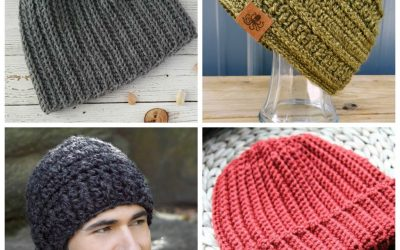 These #CrochetHatPatterns for men are unique, fun to make and stylish. And the best part is they're all #freecrochetpatterns. #crochetpatterns #easycrochet #easycrochetpatterns