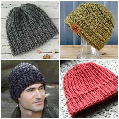 561e72bbe1f Double V Slouch Beanie Hat Crochet Pattern • Simply Collectible Crochet