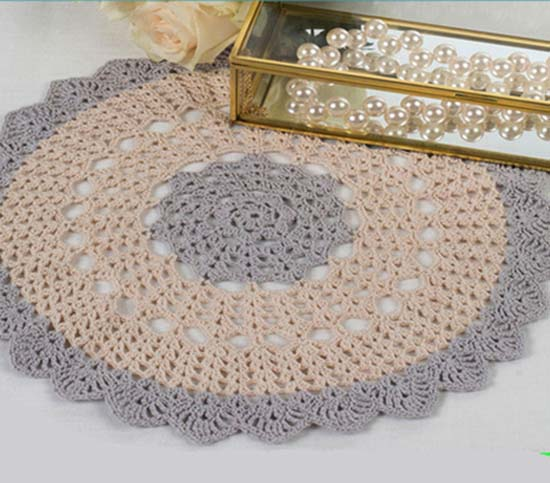 Scalloped Round Doily - Crochet doily patterns are unique and a great investment of time. They take skill and attention to detail and are perfect for relaxing. #crochetpatterns #crochetdoilypatterns #freecrochetpatterns #crochetaddict