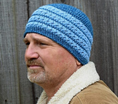 "So Good, You'll ""Borrow"" it Beanie - These 14 crochet hat patterns for men are unique, fun to make and stylish. Pick up your hook and your favorite crochet beanie pattern and get stitching!  #crochethatpatterns #crochethatsformen #menscrochetbeanies"