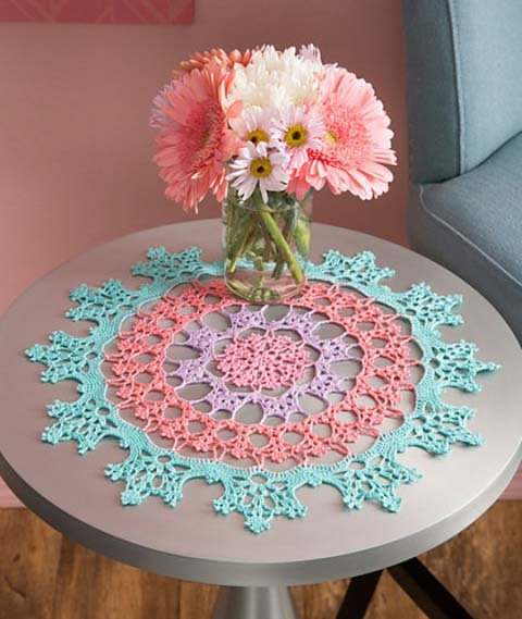 Wisteria Doily - Crochet doily patterns are unique and a great investment of time. They take skill and attention to detail and are perfect for relaxing. #crochetpatterns #crochetdoilypatterns #freecrochetpatterns #crochetaddict