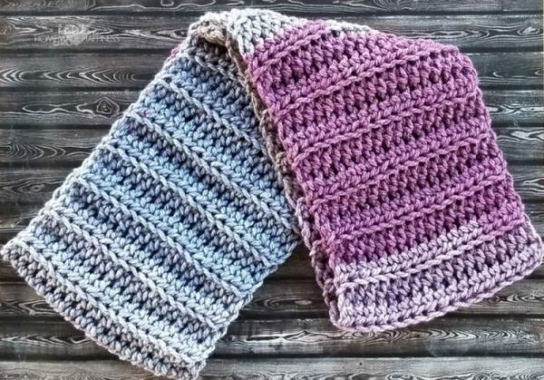 Easy Textured ScarfThis list of free scarf patterns has crochet for beginners. Choose between these free crochet patterns and get to work on a project you can be proud of. #CrochetScarfPatterns #CrochetScarf #FreeCrochetPatterns