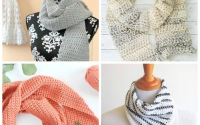 This list of free scarf patterns has crochet for beginners. Choose between these free crochet patterns and get to work on a project you can be proud of. #CrochetScarfPatterns #CrochetScarf #FreeCrochetPatterns